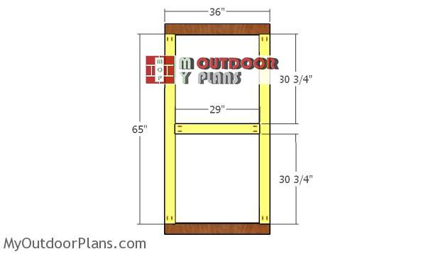 Building-the-door-frame---greenhouse