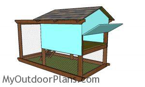 Chicken coop plans - back view