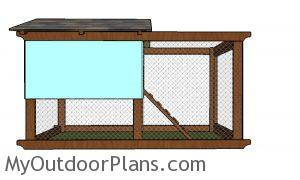 Chicken tractor plans - side view