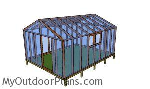 Covering the greenhouse with film - 12x16 greenhouse