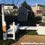 DIY Garden Bench with Planters