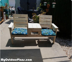 Double-chair-bench---DIY-Project