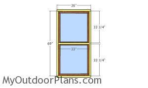 Fitting the door trims