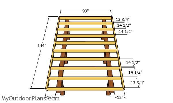 Fitting the floor frame