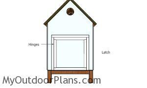 Fitting the large door - 4x8 Chicken coop plans