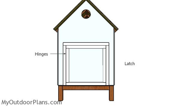 Fitting the large door - 4x8 Chicken coop plans