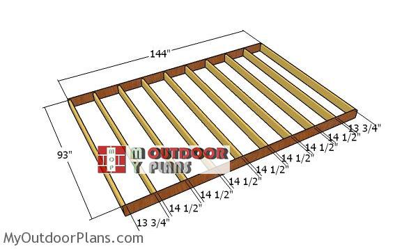 Floor-frame-8x12-shed