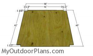 Floor sheet - chicken tractor