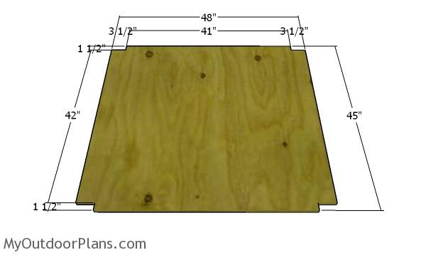 Floor sheet - chicken tractor