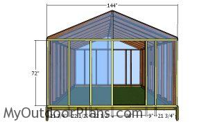 Front and back greenhouse trims