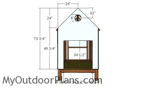 Front wall - 4x8 backyard chicken coop plans