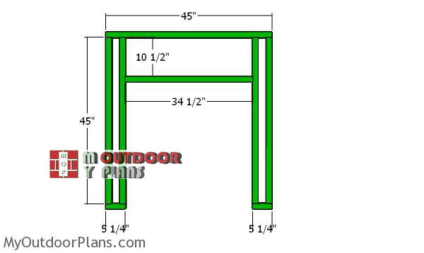 Front-wall-frame-backyard-chicken-coop