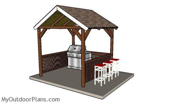 8x8 Grill Gazebo Plans Myoutdoorplans Free Woodworking