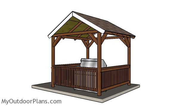 Grill Gazebo Plans - back view