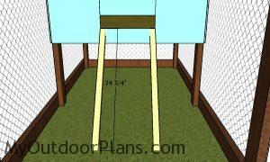 Ladder posts - Chicken Tractor Plans