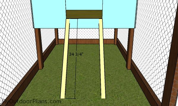 Ladder posts - Chicken Tractor Plans