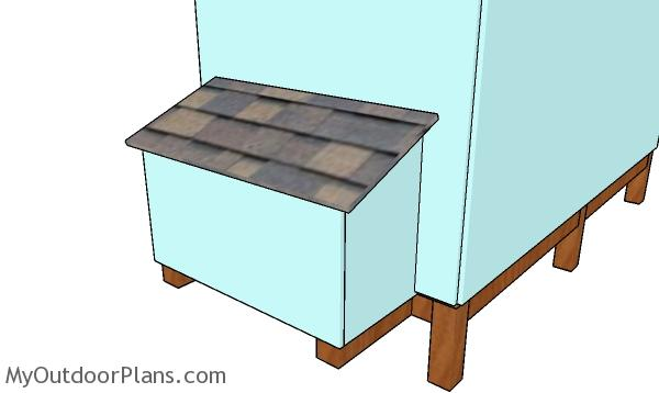 Nesting box - 4x8 backyard chicken coop