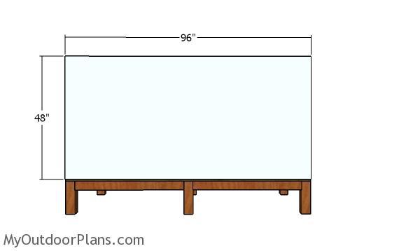 Plain side wall