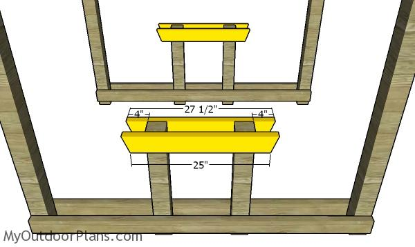 Table supports - Covered 6' picnic table plans