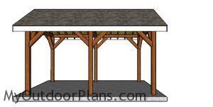 10x16 pavilion plans - Side view
