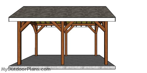 10x16 pavilion plans - Side view