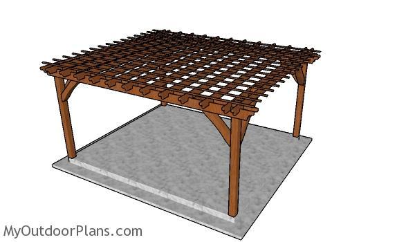 14x16 Pergola Plans - Free DIY Guide