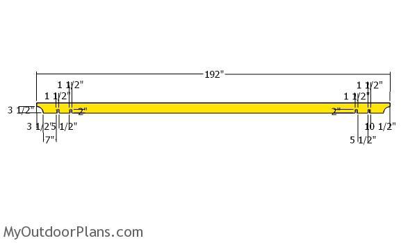 14x16 Pergola - Rafters