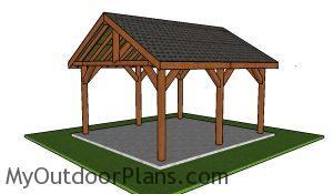 14x18 Pavilion Plans Free
