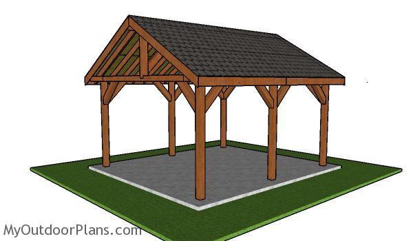 16x18 Pavilion Plans Free Diy Guide Myoutdoorplans