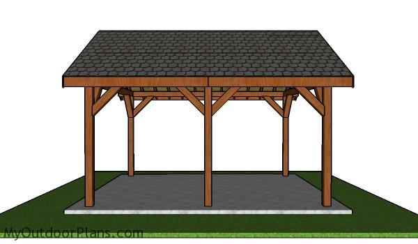 16x18 Pavilion Plans Free - Side view