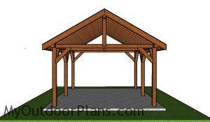 16x18 Pavilion Plans - Front view