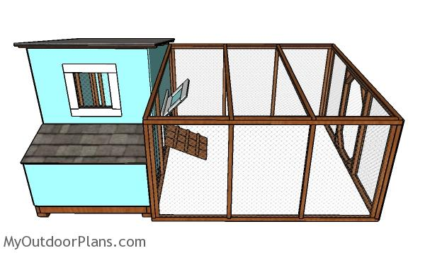 8x8 Chicken Run Plans