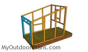 Assembling the frame of the chicken coop