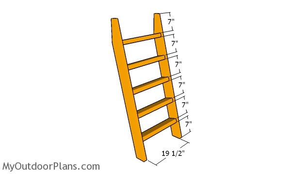 Assembling the ladder