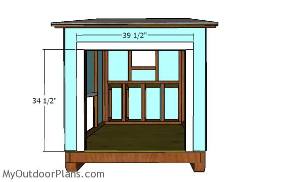 Back door jambs - chicken coop project