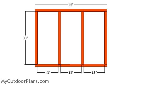 Back wall frame - 4x4 coop