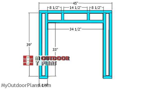Back-wall-frame---4x8-chicken-shelter
