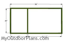 Back wall frame for the chicken run