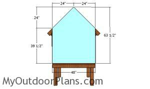 Back wall panels - 4x4 chicken coop