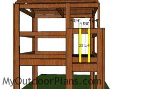 Balusters for kids fort