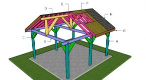16×18 Pavilion – Gable Roof Plans