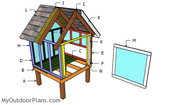 Side Nesting Box for a 4x4 Coop Plans