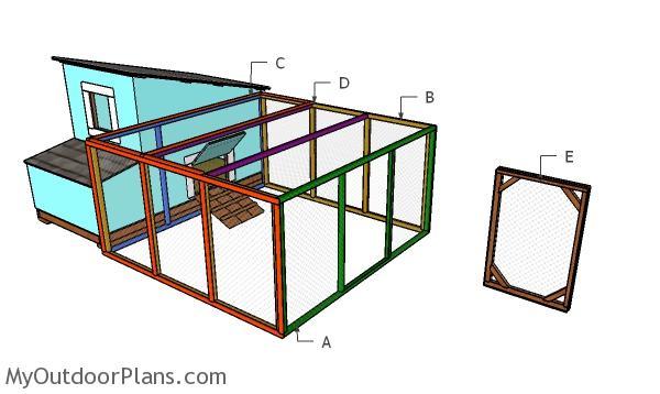 Building a 8x8 chicken run