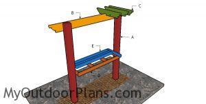 Building a bar pergola