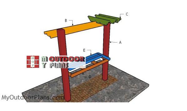 Building-a-bar-pergola