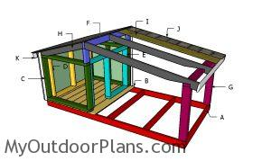 Building a dog house with porch