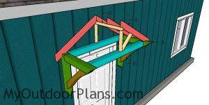 Building a door canopy