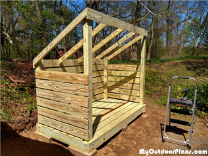 Building-a-firewood-shed