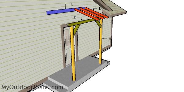 Building a front porch pergola