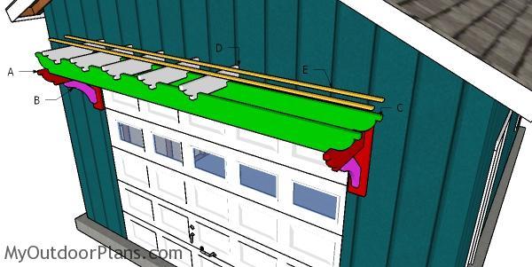 Building a garage pergola